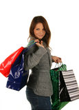 Beautiful girl with shopping bag.  Stock Photography