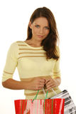 Beautiful girl with shopping bag Stock Photography