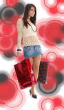 Beautiful girl with shopping bag Stock Photo