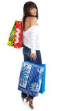 Beautiful girl with shopping bag Royalty Free Stock Images