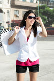 Beautiful girl with a shopping Bag Royalty Free Stock Images
