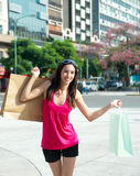 Beautiful girl with a shopping Bag Stock Photo