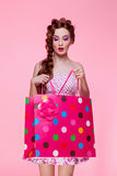 Beautiful girl with shopping bag Stock Image