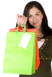 Beautiful girl with shopping bags Stock Images