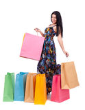 Beautiful girl with shopping bags Royalty Free Stock Photos