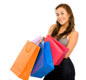 Beautiful girl with shopping bags Royalty Free Stock Images