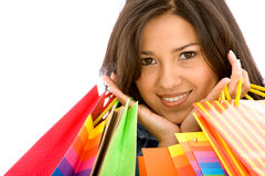 Beautiful girl with shopping bags Royalty Free Stock Image