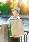 Beautiful girl with shopping bags Stock Image