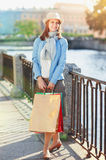 Beautiful girl with shopping bags Stock Photo
