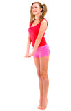 Beautiful girl in shorts Royalty Free Stock Photos