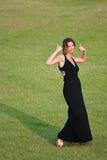 Beautiful girl showing success Royalty Free Stock Photos