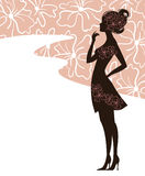 Beautiful girl silhouette Royalty Free Stock Photo
