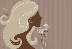 Beautiful girl silhouette Royalty Free Stock Images