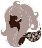 Beautiful girl silhouette Stock Photo