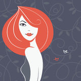 Beautiful girl silhouette Royalty Free Stock Photography