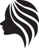 The beautiful girl (silhouette), icon design Stock Photo