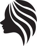 The beautiful girl (silhouette), icon design Stock Photo