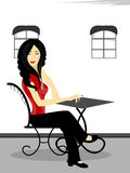 A beautiful girl siting on the chair. Royalty Free Stock Photos