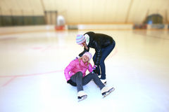 Beautiful girl  on skates Royalty Free Stock Images