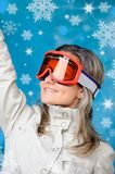 Beautiful girl in ski clothes Stock Photography