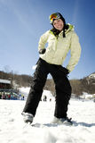 Beautiful girl skier Royalty Free Stock Photo