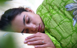 Beautiful girl sleeping Royalty Free Stock Photos