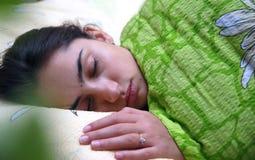 Beautiful girl sleeping Royalty Free Stock Photos