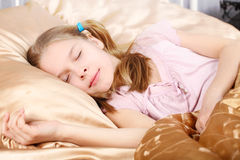 Beautiful girl sleeps Royalty Free Stock Photography