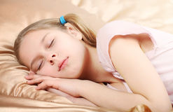 Beautiful girl sleeps Royalty Free Stock Photos