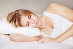 Beautiful girl sleeps Stock Photography