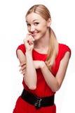 Beautiful girl smiles sweetly Stock Photo
