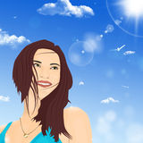 Beautiful Girl Smiles Stock Image