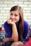 Beautiful girl is smiling Royalty Free Stock Photography