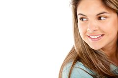 Beautiful girl smiling Stock Images