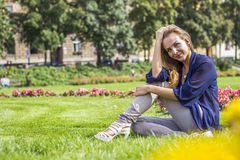 Beautiful girl smiling Royalty Free Stock Photography