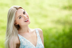 Beautiful girl smiling Stock Photos