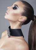 Beautiful girl with smokey eyes make up Royalty Free Stock Image
