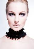 Beautiful girl with smoky eye makeup Royalty Free Stock Photo