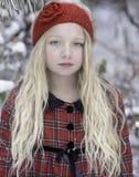 Beautiful Girl, Snow Stock Photography