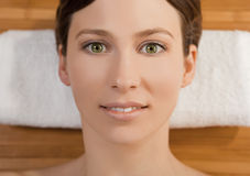Beautiful girl on a spa Royalty Free Stock Images