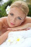 Beautiful girl in spa center Stock Photography