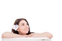 Beautiful girl on a spa procedure Stock Photo