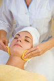 Beautiful girl in spa salon. Picture of a Beautiful girl in spa salon Royalty Free Stock Image