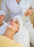 Beautiful girl in spa salon. Picture of a Beautiful girl in spa salon Royalty Free Stock Photos