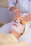 Beautiful girl in spa salon Royalty Free Stock Image