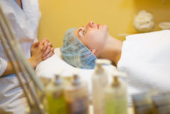 Beautiful girl in spa salon Royalty Free Stock Image