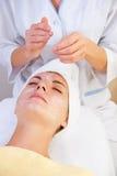 Beautiful girl in spa salon Stock Photo