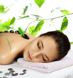 Beautiful girl in spa salon. Stock Images