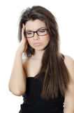 The beautiful girl in spectacles Stock Photos