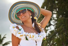 Beautiful girl spending summer holidays Royalty Free Stock Image